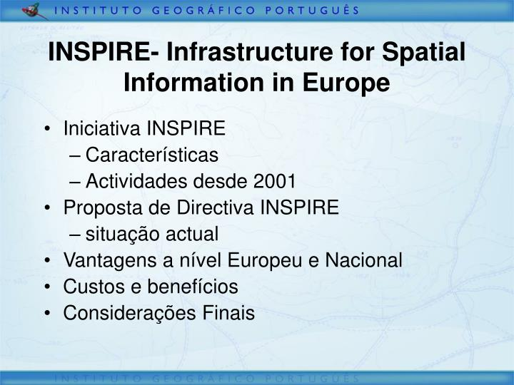 Inspire infrastructure for spatial information in europe