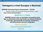 vantagens a n vel europeu e nacional