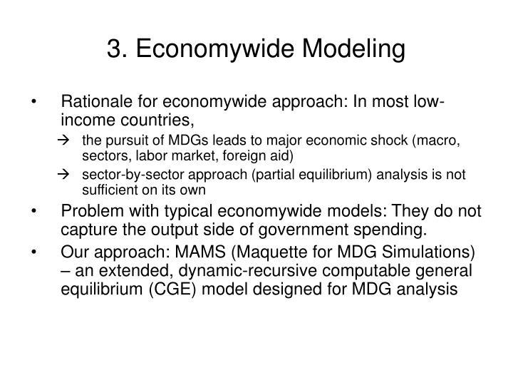 3. Economywide Modeling