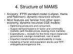 4 structure of mams