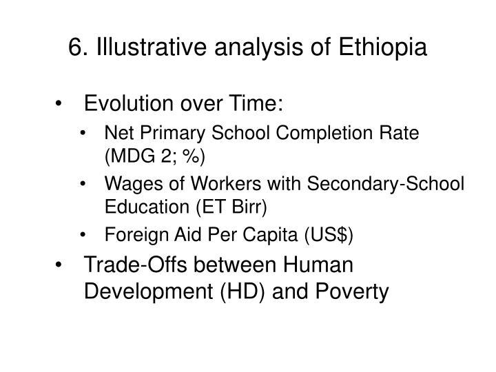 6. Illustrative analysis of Ethiopia