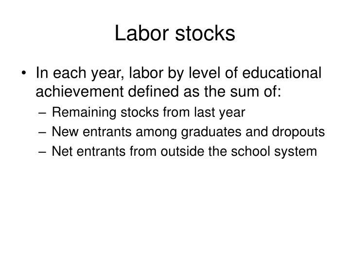 Labor stocks