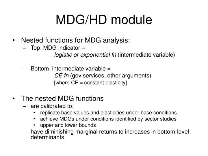 MDG/HD module