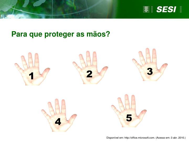 Para que proteger as mãos?