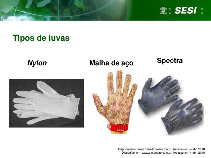 Tipos de luvas