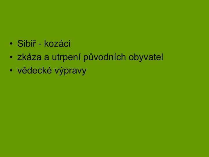 Sibiř - kozáci