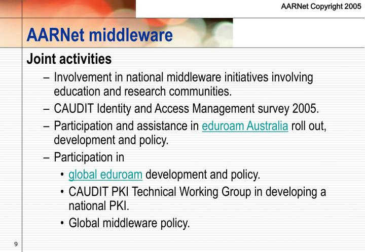 AARNet middleware