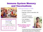 immune system memory and vaccinations