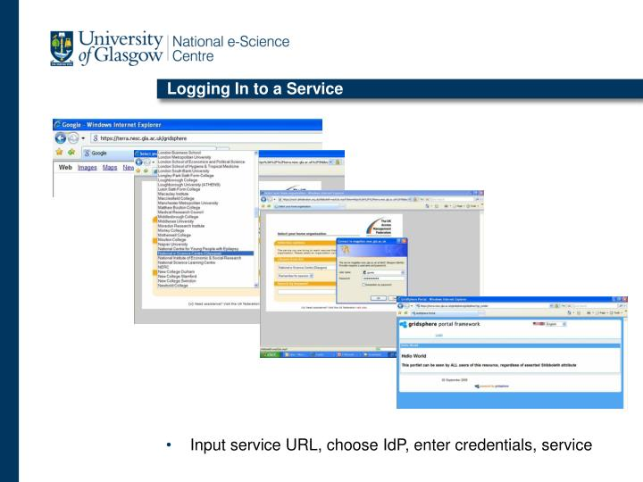 Logging In to a Service