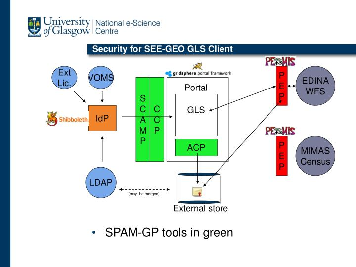 Security for SEE-GEO GLS Client