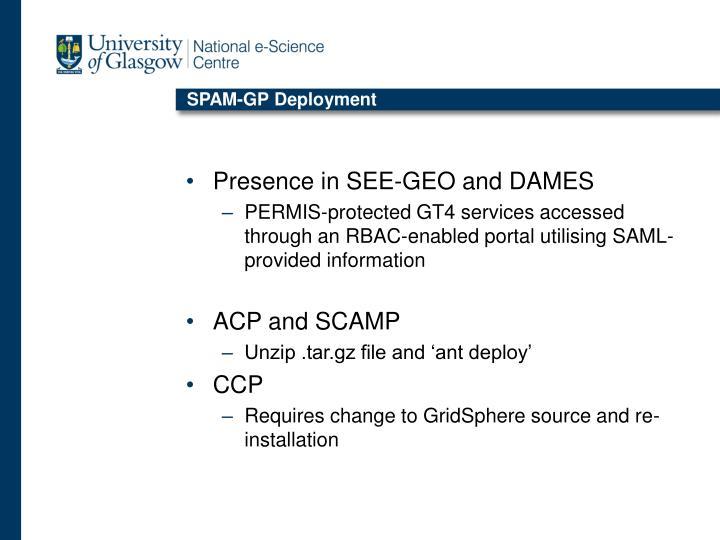SPAM-GP Deployment
