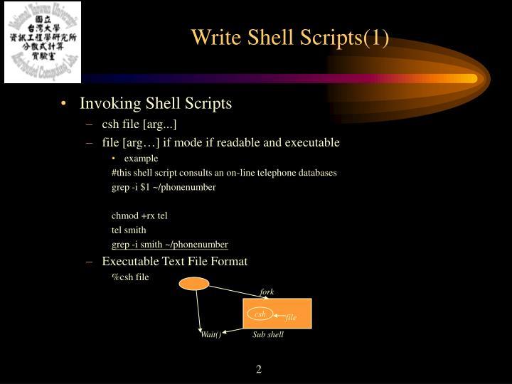 Write Shell Scripts(1)