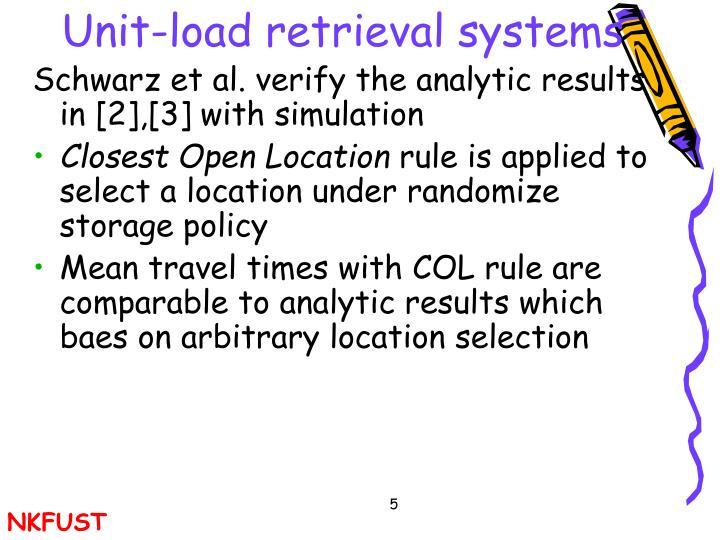 Unit-load retrieval systems