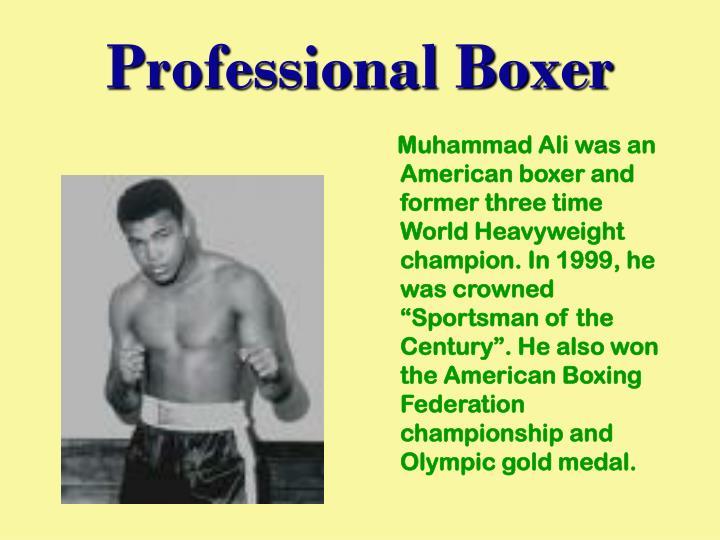Professional Boxer