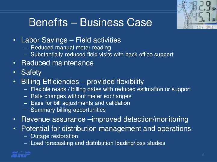 Benefits – Business Case