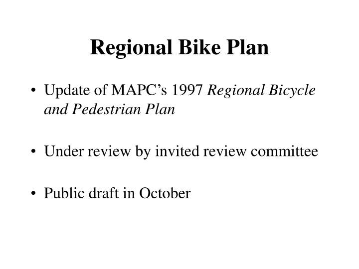 Regional Bike Plan