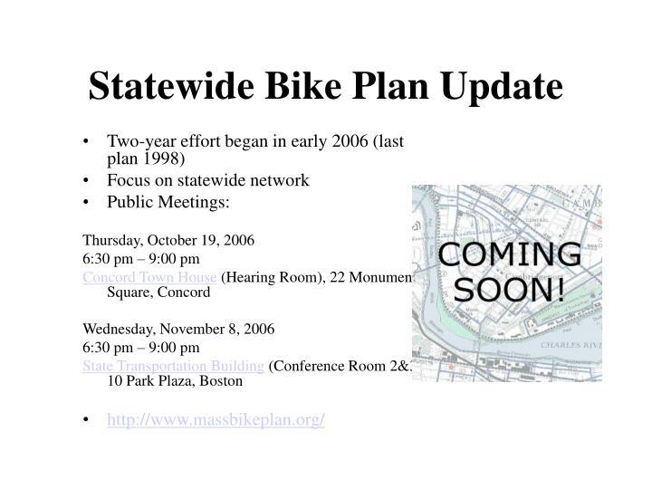Statewide Bike Plan Update