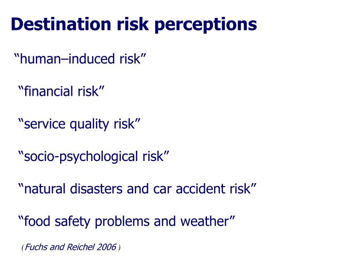 Destination risk perceptions