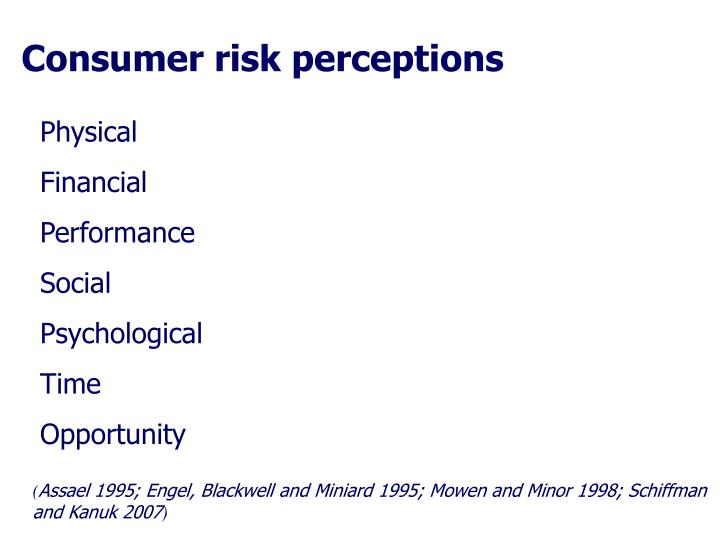 Consumer risk perceptions