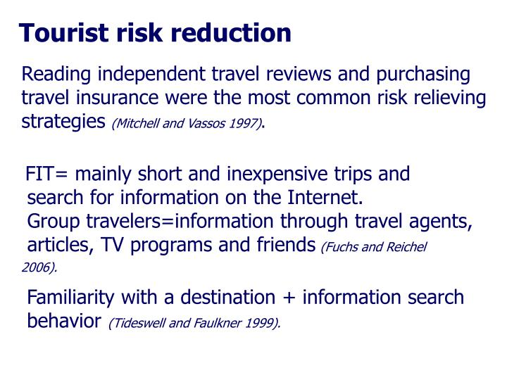 Tourist risk reduction