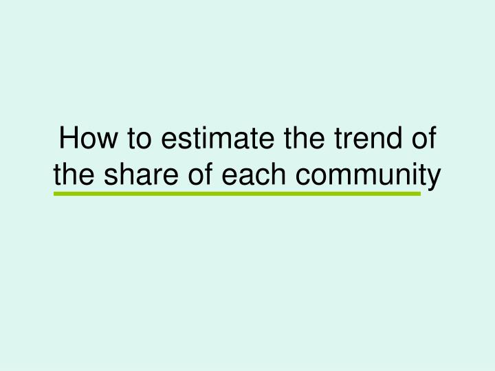 How to estimate the trend of the share of each community