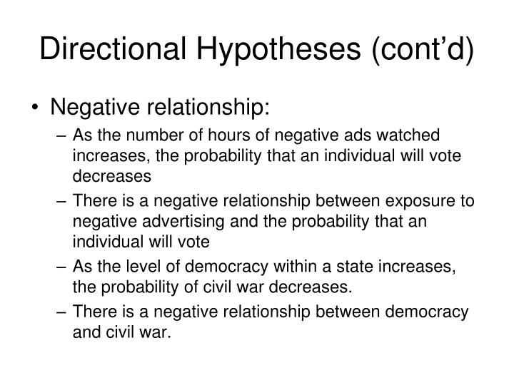Directional Hypotheses (cont'd)