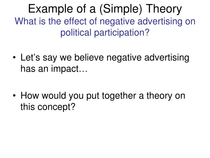 Example of a (Simple) Theory