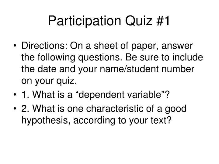 Participation Quiz #1