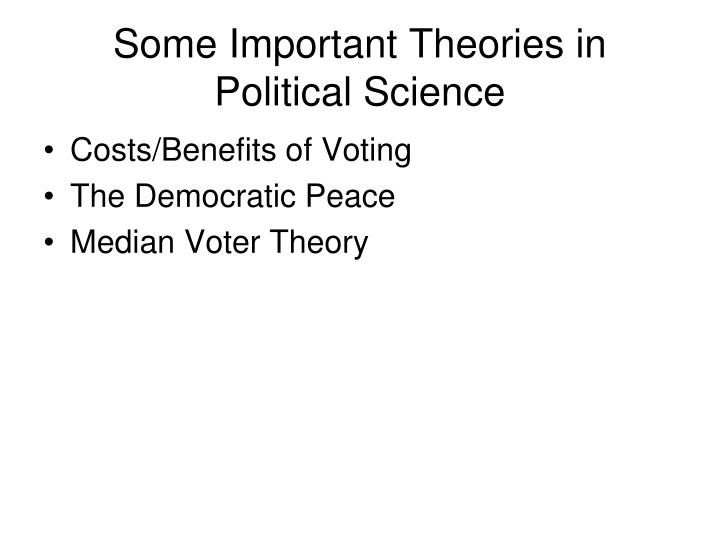Some Important Theories in Political Science
