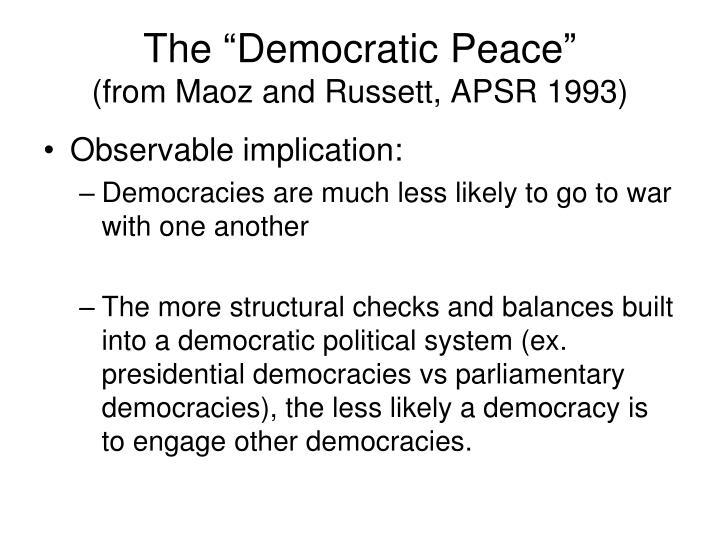 """The """"Democratic Peace"""""""
