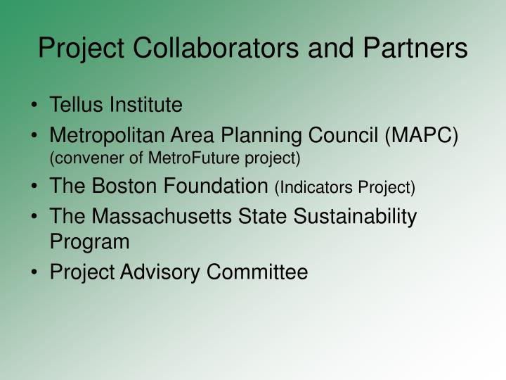 Project collaborators and partners