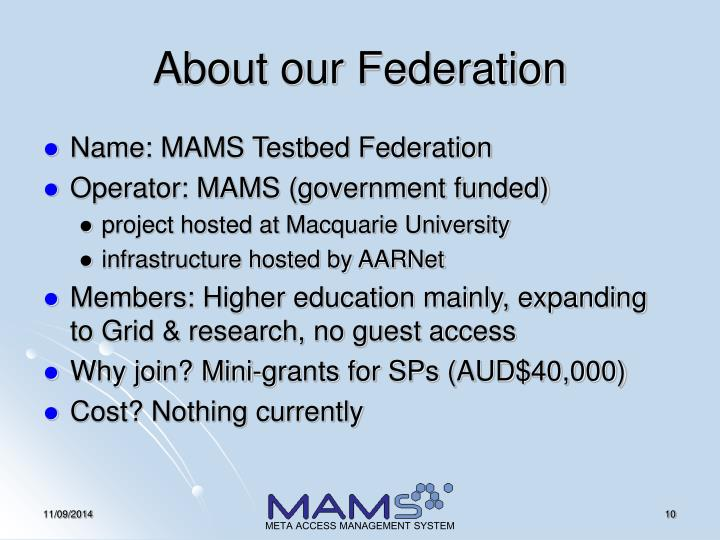 About our Federation