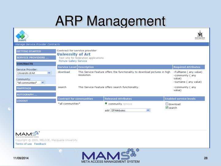 ARP Management