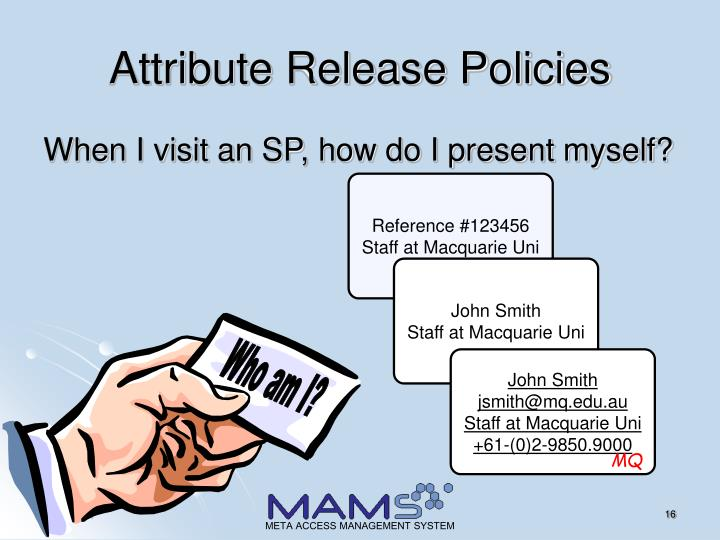 Attribute Release Policies