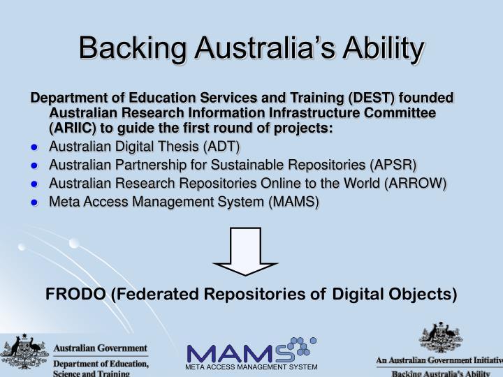 Backing Australia's Ability