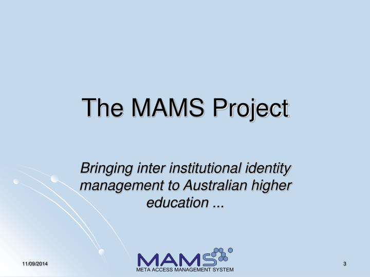 The MAMS Project