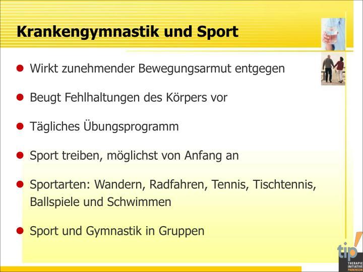 Krankengymnastik und Sport