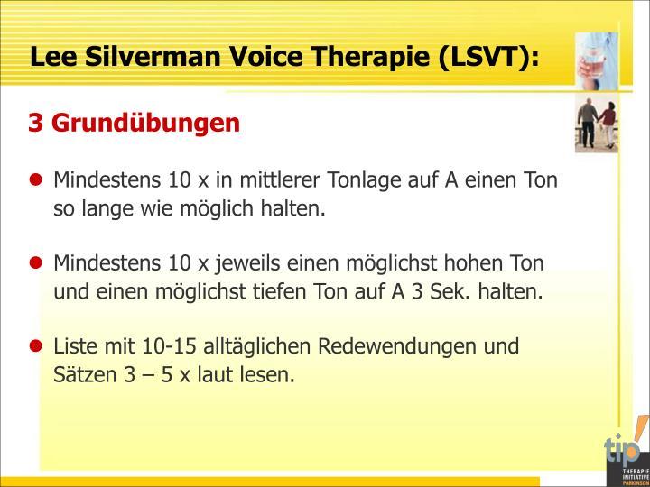 Lee Silverman Voice Therapie (LSVT):
