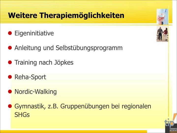 Weitere Therapiemöglichkeiten