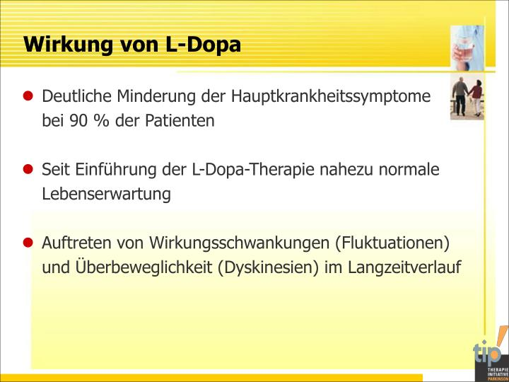 Wirkung von L-Dopa