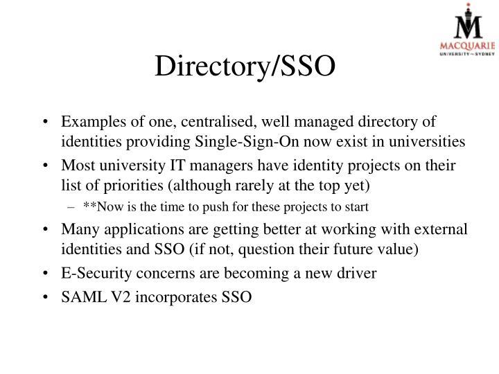 Directory/SSO