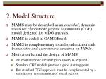 2 model structure
