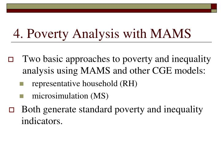 4. Poverty Analysis with MAMS