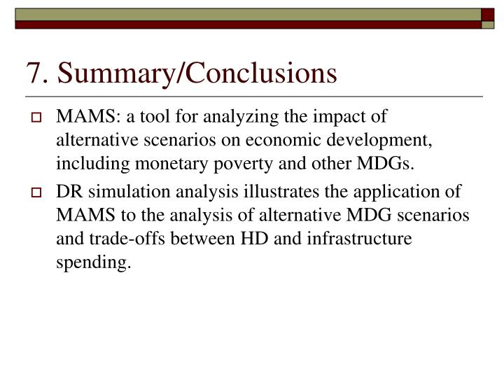 7. Summary/Conclusions