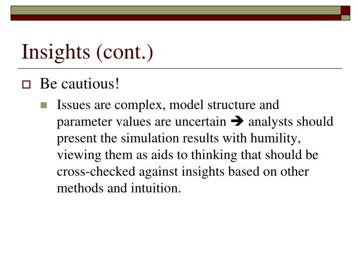 Insights (cont.)