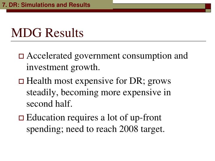 Accelerated government consumption and investment growth.
