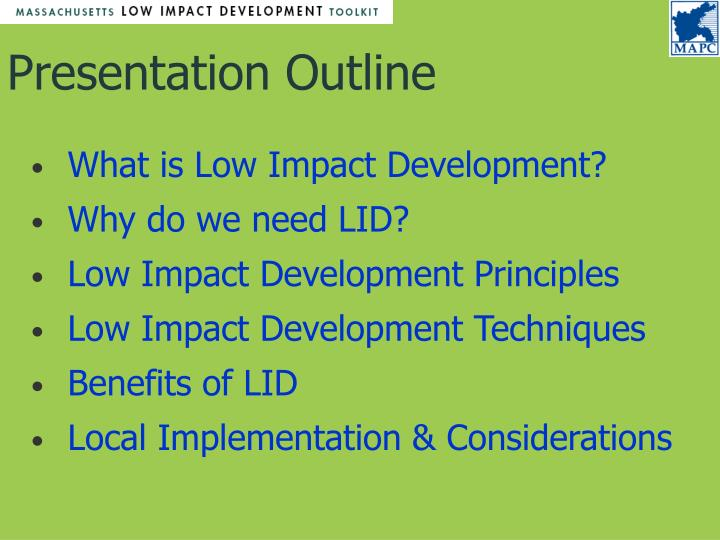 What is Low Impact Development?