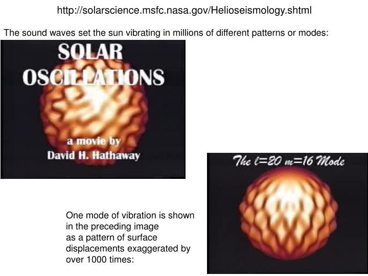 http://solarscience.msfc.nasa.gov/Helioseismology.shtml