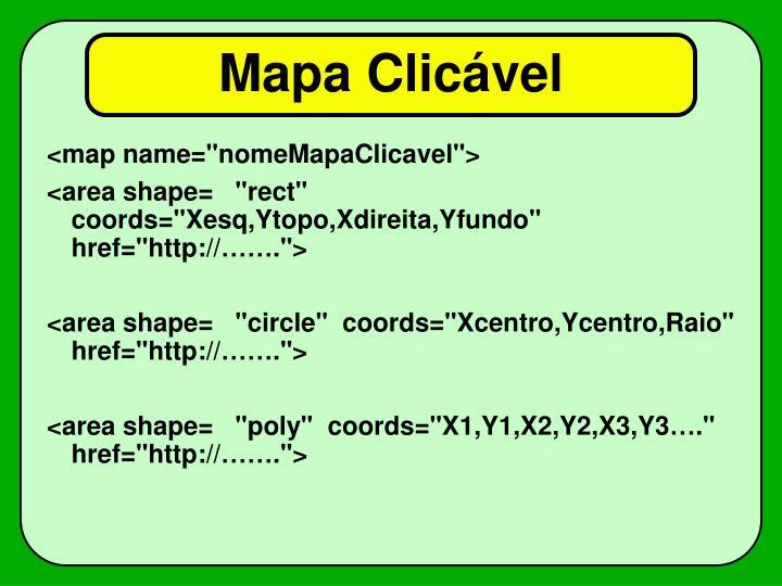Mapa Clicável