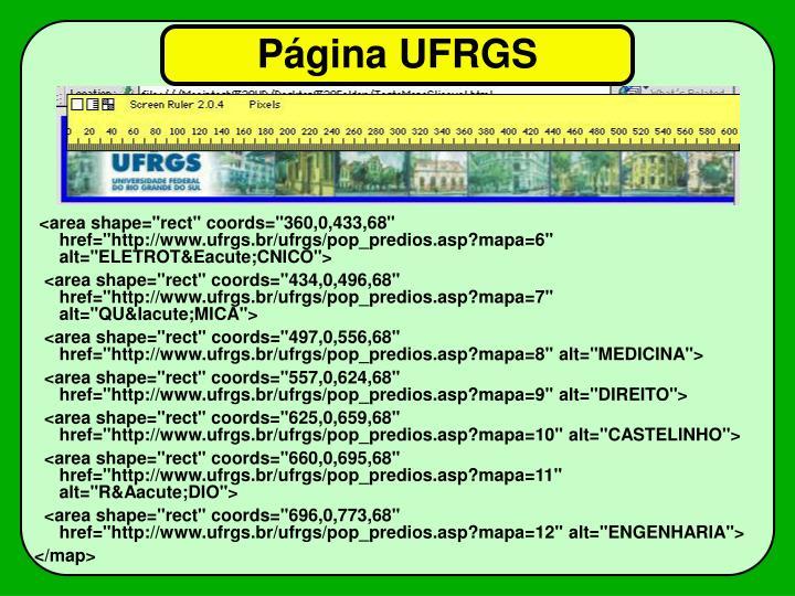 Página UFRGS